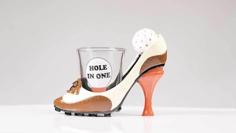 Hole In One Shoeter Novelty Shot Glass