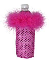 Hot Pink Sequin Water Koozie for Women by Tipsy Totes