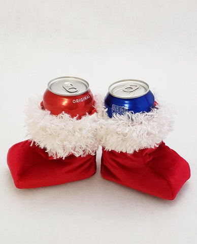 Santa Boot Koozie for Cans