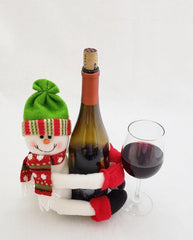 Plush Snowman Wine Bottle Holder