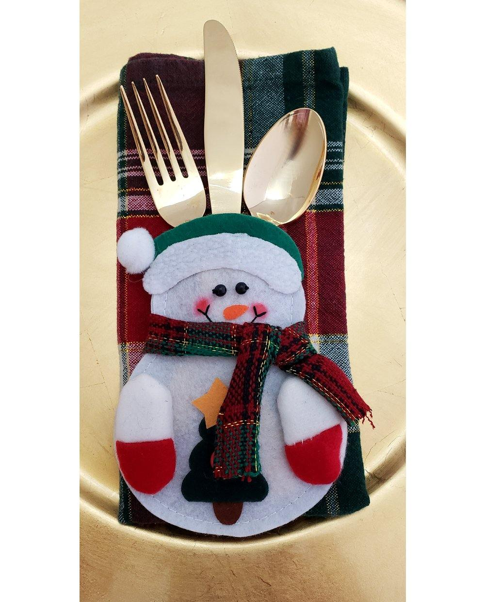 Snowman Flatware Holder - perfect for kids!