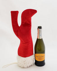 The Santa Stiletto Fancy Wine Tote