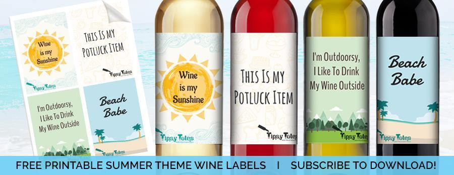 SUMMER WINE LABELS - Tipsy Totes | Wine Gifts | Beer Koozies | Wine Totes | Simply Fabulous
