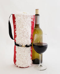 Santa Wine Bag with Fur Trim