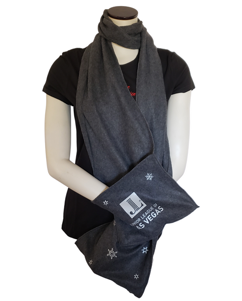 JLLV Fleece Scarf with Pockets - Tipsy Totes | Wine Gifts | Beer Koozies | Wine Totes | Simply Fabulous