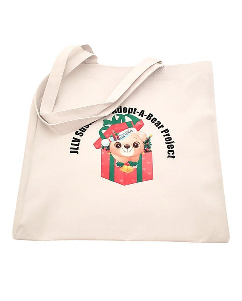 Holiday Adopt-A-Bear Tote Bag - Tipsy Totes | Wine Gifts | Beer Koozies | Wine Totes | Simply Fabulous
