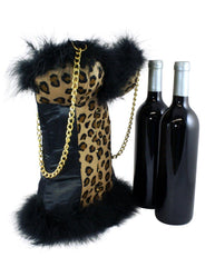 Cheetah Corset Double Wine Tote | Wine Bottle Holder | Wine Purse - Tipsy Totes | Wine Gifts | Beer Koozies | Wine Totes | Simply Fabulous