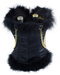 Leopard Corset Wine and Spirits Carrier for 2 Bottles by Tipsy Totes