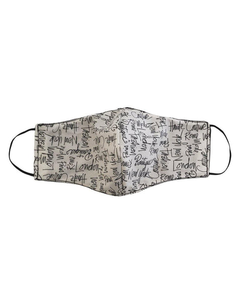 Face Mask with Fashion theme writing