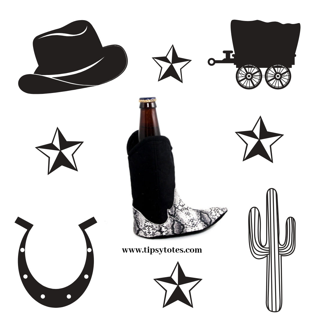 Western Boot Koozie by Tipsy Totes