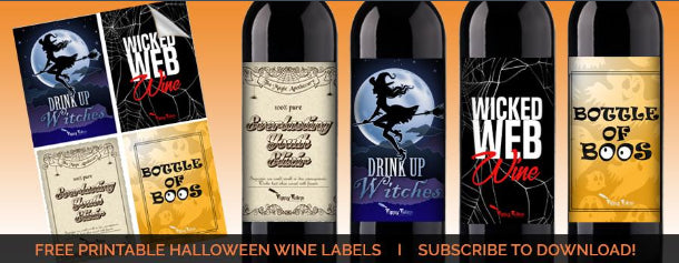 Free Halloween Labels from Tipsy Totes