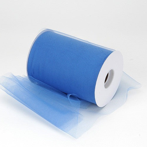 Antique Blue premium soft nylon tulle 6 inch x 100 yard roll