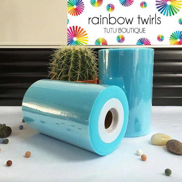 Turquoise premium soft nylon tulle 6 inch x 100 yard roll