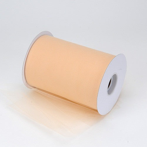 Champagne premium soft nylon tulle 6 inch x 100 yard roll