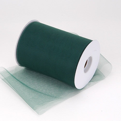 Hunter Green premium soft nylon tulle 6 inch x 100 yard roll