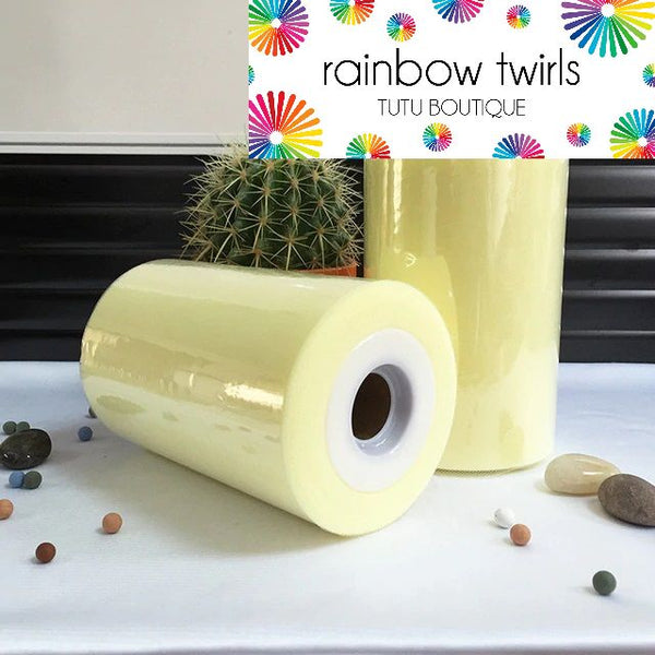 Lemon premium soft nylon tulle 6 inch x 100 yard roll