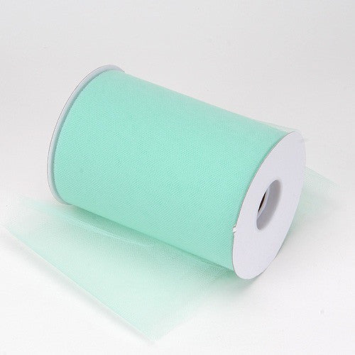 Mint premium soft nylon tulle 6 inch x 100 yard roll