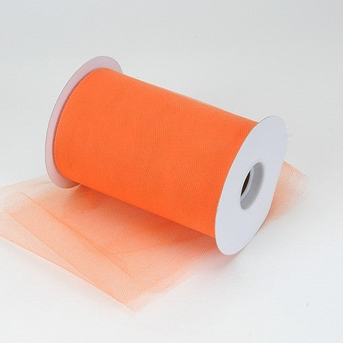 Orange premium soft nylon tulle 6 inch x 100 yard roll