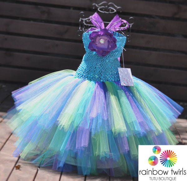 Pretty Peacock Tutu Dress