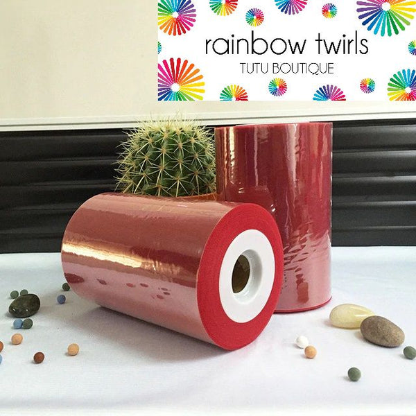 Tango Red premium soft nylon tulle 6 inch x 100 yard roll