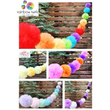Design your Own Tulle Pom Pom Garland