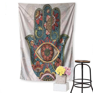 Fatema's Hand Indian Mandala Tapestry