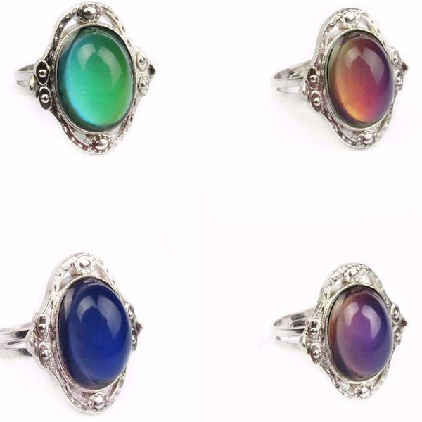 """Lutetia"" Color morphing vintage antique ring - Adjustable"