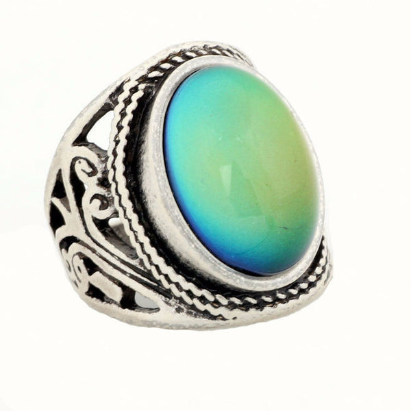 """Aureliani"" Color morphing vintage antique ring"