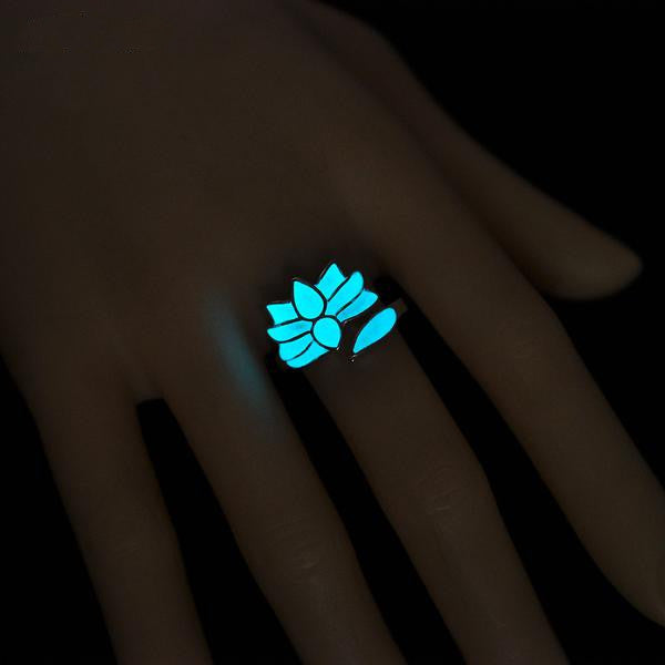 glow in the dark ring vintage anillos hot sale bohemian glowing rings for women jewelry