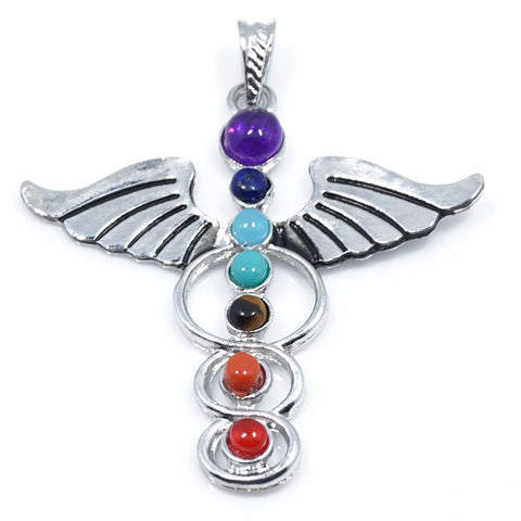Reiki Chakra Pendant 7 Chakra Stones Natural Stone Pendant Tree Of Life Semi Precious Stones Choker Necklace For Women Jewelry