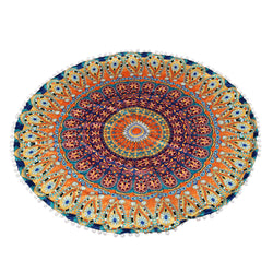 Lovely pet Hot selling Large Mandala Floor Pillows Round Bohemian Meditation Zipper Closure Polyester Pillow Case Aug26