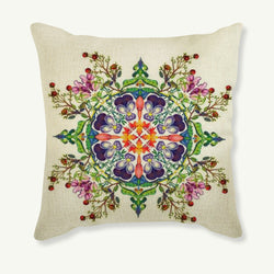 New 43 X 43CM Flower Heart Decorative Cotton Linen Pillow Cover