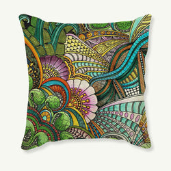 "Flower Printed pillow decorative pillow case Flower bedding set princess Flower 18"" Square Printed Pillow Case"
