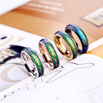 Chormorphia Collection  rings temperature change color rings for women