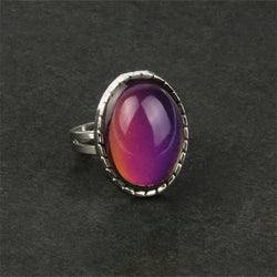 New fashion women charm palace restoring ancient ways gem ring temperature mood change color ring Free Shipping