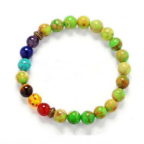 7 Chakra Stone Beads for Healing Balance Bracelet - Ideal for Reiki and Yoga
