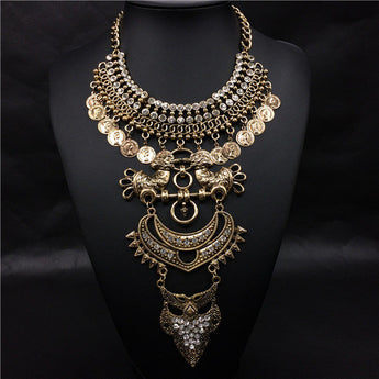 2017 Asilah Boho vintage Maxi Necklace Two Colors