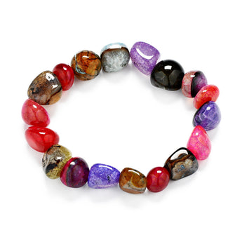 7 Chakra Healing Smooth Crystals Bracelets