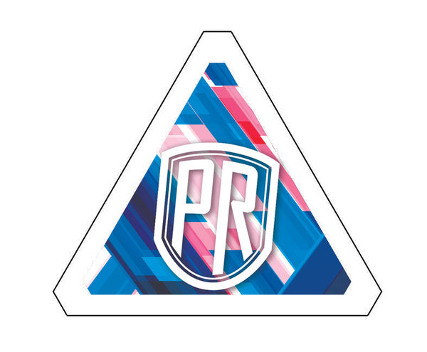 Blue PR Badge End Cap