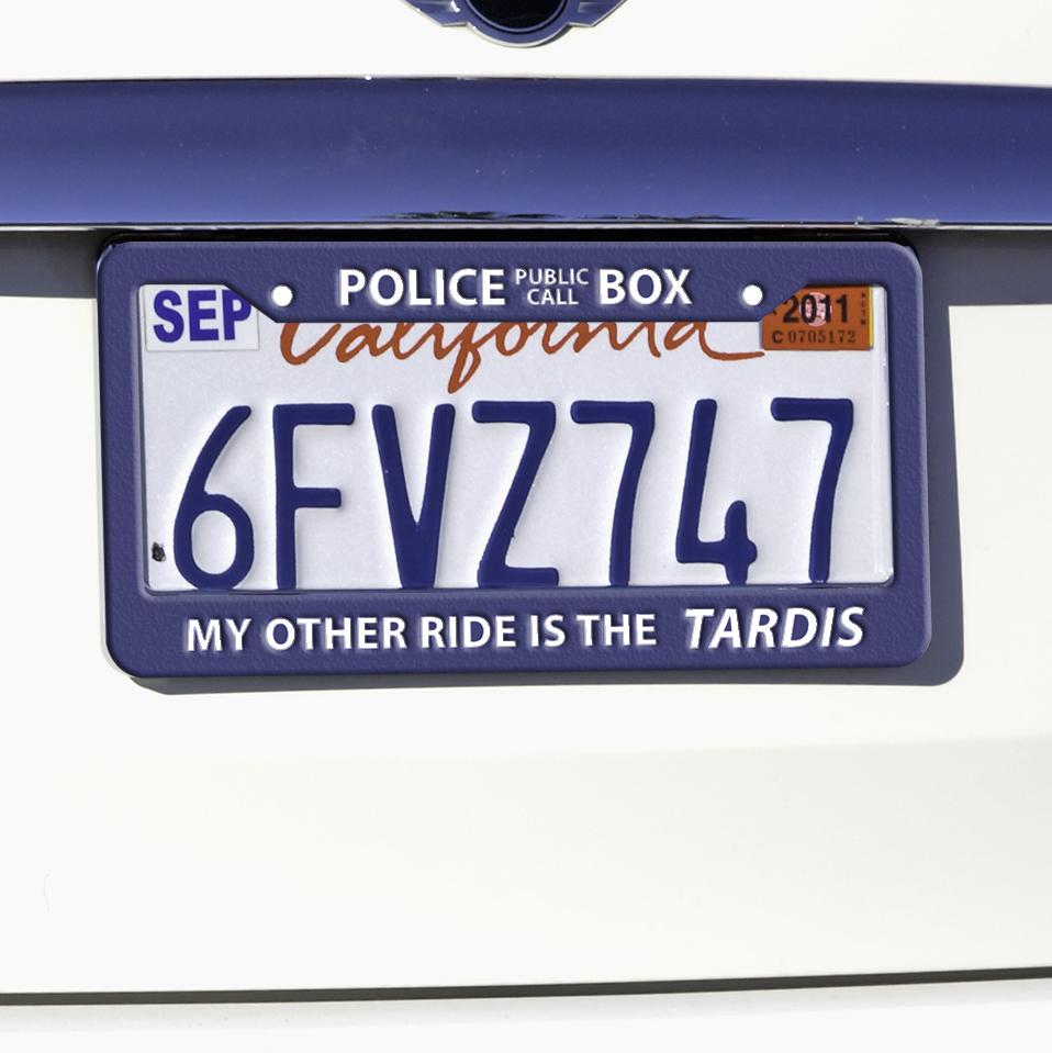 Police Box License Plate Frame - Whovian Fans | CosplayGears