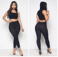 Check me out crop top & leggings set