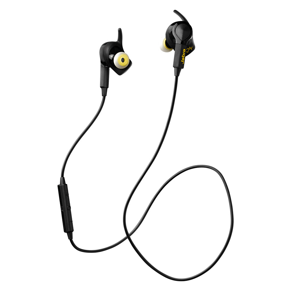 Sport Exercise Headphones Etc Store Jabra Pace Wireless Earbuds Yellow Pulse In Ear Workout Black