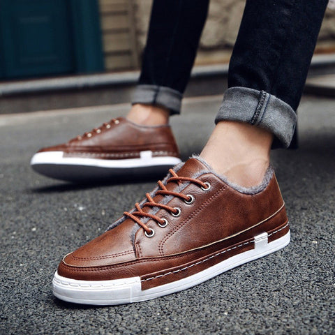 Suede Casual Men Shoes - DendiShop