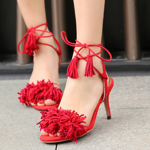 C H L O E Luxury Fringe Sandals