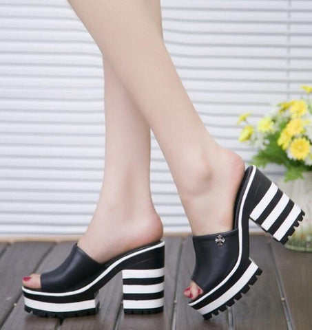 Thick Heeled Sandals - DendiShop