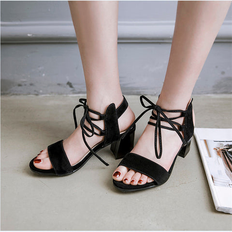 Thick High Heel Sandals