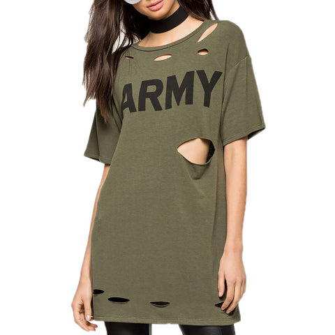 ARMY Green Loose T-Shirt