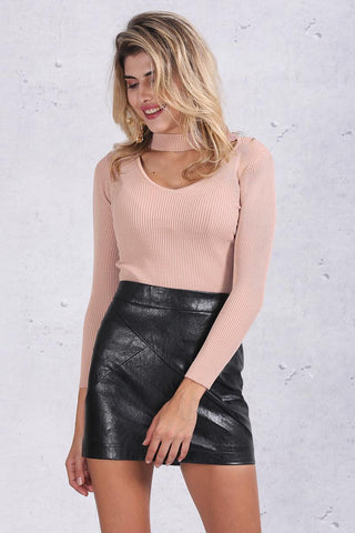 Halter Knitted Sweater