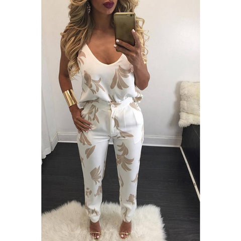 2 Pieces Overall Sexy Spaghetti Strap Jumpsuit - DendiShop