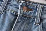 Wind Flowers Embroidered Jeans - DendiShop